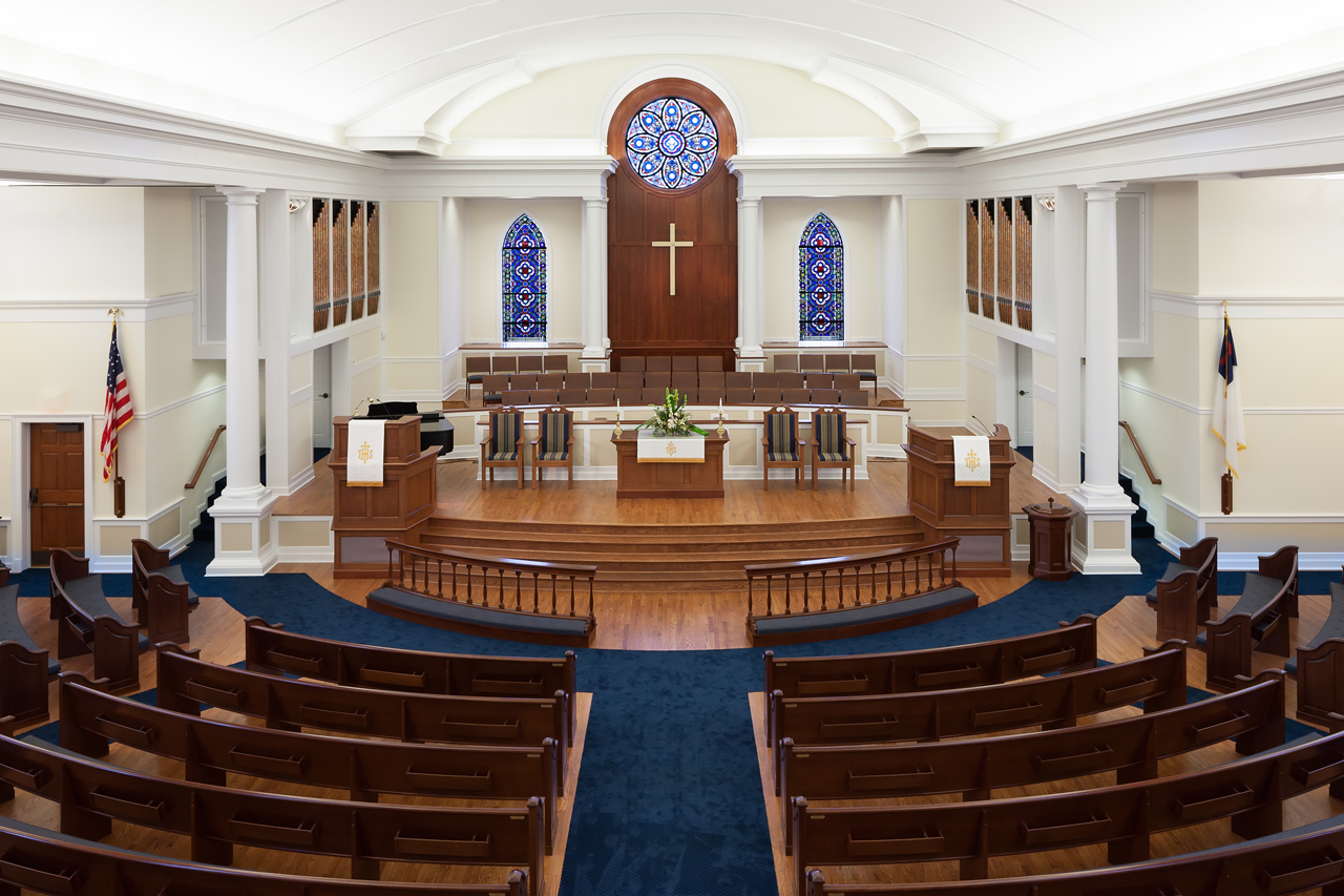 High street united methodist church wins asid award for Church interior design ideas