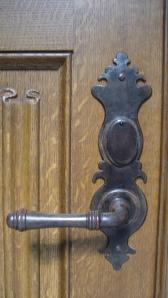 detail BW front door