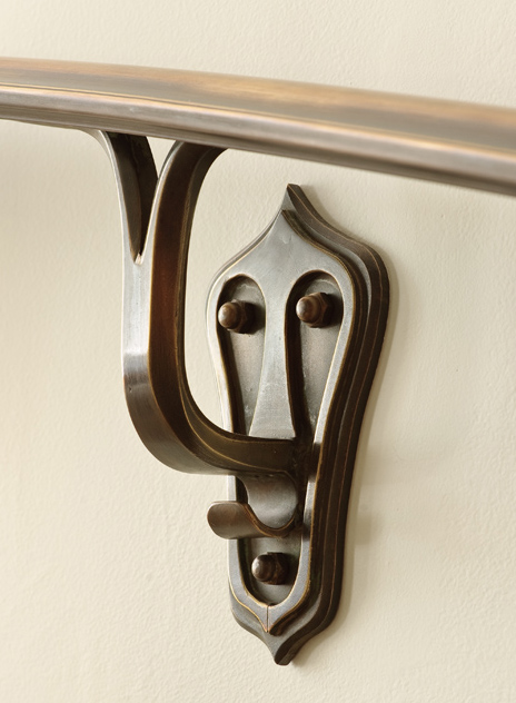A Finely Crafted Handrail Bracket Adds Character To The Stairs Contributing  To The Overall Feel Of The Home.