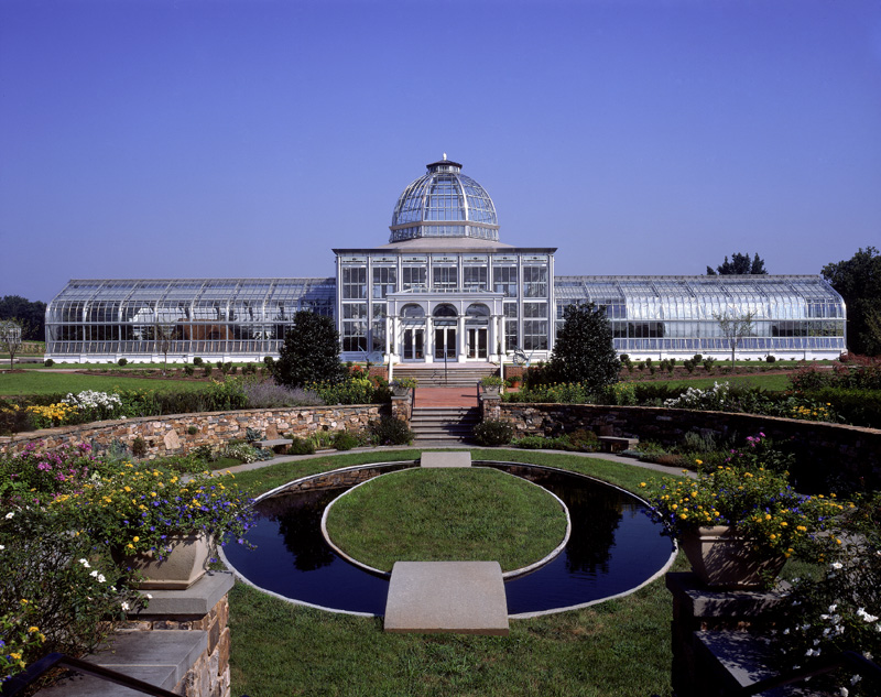 the lewis ginter botanical gardens conservatory is featured in an exhibition of the top 100 structures at the virginia center for architecture in richmond - Lewis Ginter Botanical Garden